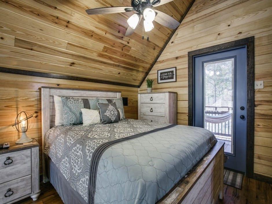 A-little-knotty-loft bedroom