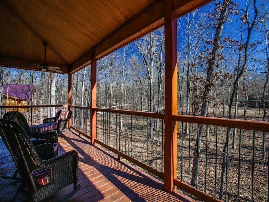 Coyote-creek-side deck
